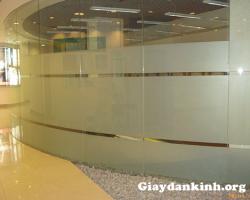 Giấy dán kính cát mờ cho văn phòng tại Hà Nội