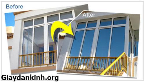 Giấy dán kính chống nắng cách nhiệt cho cửa kính giá tốt