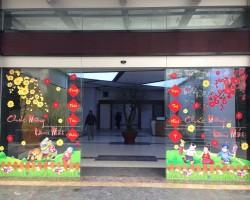 Decal trang trí cửa kính cho năm mới T02